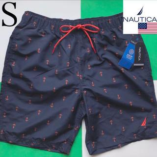 NAUTICA - 【新品】NAUTICA ノーティカ USA メンズ 水着 S ネイビー×オレンジ