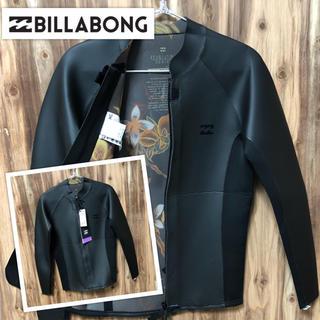 ビラボン(billabong)のビラボン Mサイズ フロントジップ 長袖タッパー ウェットスーツ メンズ(サーフィン)