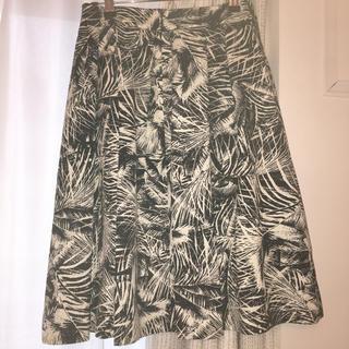 ノーブル(Noble)のNOBLE  ボタニカル柄 膝丈スカート(ひざ丈スカート)