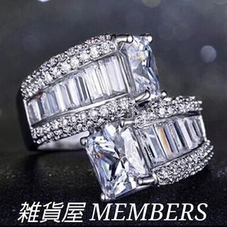 送料無料18号クロムシルバースーパーCZダイヤデザイナーズジュエリーリング指輪(リング(指輪))