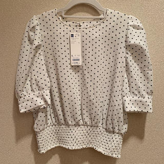 ジーユー(GU)の◆新品未使用◆ GU ドットプリントブラウス S(シャツ/ブラウス(半袖/袖なし))