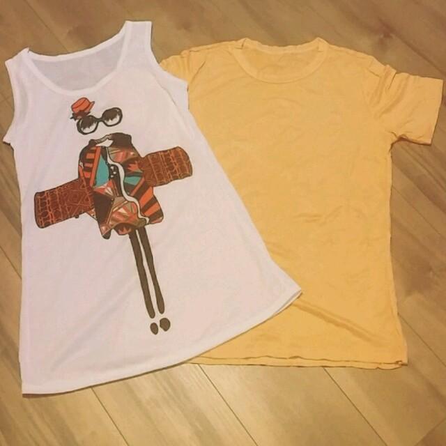 タンクトップ&Tシャツ♡新品セット♡ レディースのトップス(タンクトップ)の商品写真