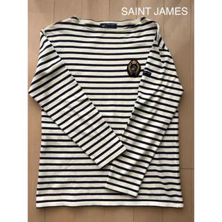 SAINT JAMES - SAINT JAMES/ボーダー(M(4))ワッペン付/ネイビー×オフホワイト