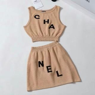シャネル(CHANEL)のChanelシャネル レディース スカート タンクトップ ツーピース(ミニワンピース)