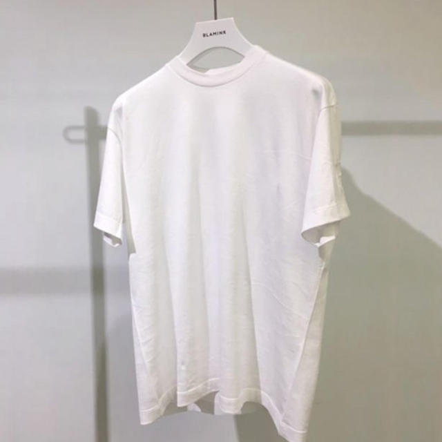 Drawer(ドゥロワー)の新品 BLAMINK ロゴ刺繍Tシャツ  ホワイト 1 レディースのトップス(Tシャツ(半袖/袖なし))の商品写真