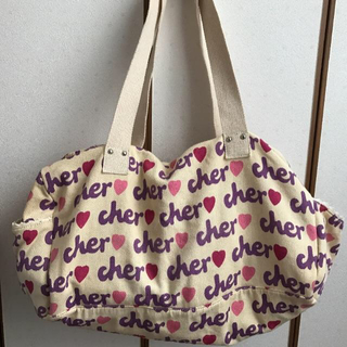 シェル(Cher)のcher♡ボストンバッグ   ベージュ  中古  (ボストンバッグ)