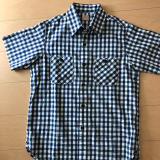 シュガーケーン(Sugar Cane)のシュガーケーン 未使用 半袖 ワーク ギンガムチェックシャツ Sサイズ (シャツ)