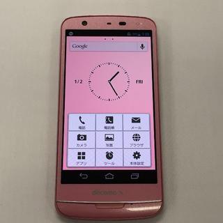 エヌイーシー(NEC)のdocomo NEC N-06E Pink ピンク(スマートフォン本体)