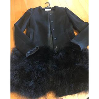 ニーナミュウ(Nina mew)のニーナミュウ フェザーコート 黒(毛皮/ファーコート)