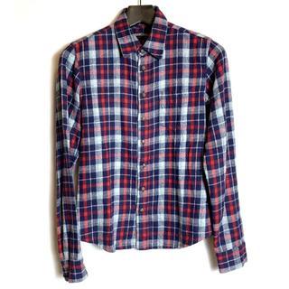 クロムハーツ(Chrome Hearts)のクロムハーツ セメタリークロスパッチ クロスボール チェックシャツ S(シャツ)