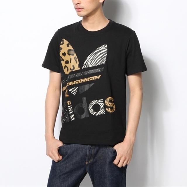 adidas(アディダス)の◆ adidas ビッグロゴ アニマル ドット Tシャツ ◆ メンズのトップス(Tシャツ/カットソー(半袖/袖なし))の商品写真