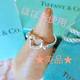 Tiffany & Co. - ほぼ未使用☆ ティファニー オープンハート リング 7号