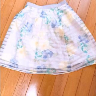 プロポーションボディドレッシング(PROPORTION BODY DRESSING)のフラワースカート(ひざ丈スカート)
