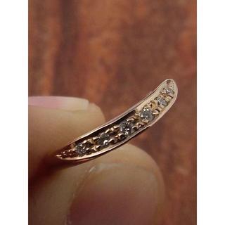 スタージュエリー(STAR JEWELRY)のスタージュエリー!可愛いピンキー!K18ダイヤリング 3号(リング(指輪))