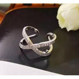 フリーサイズ シルバー925   大人気 クロス リング 指輪