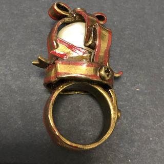 ジェーンマープル(JaneMarple)のジェーンマープル リボン パール 王冠 リング 指輪(リング(指輪))