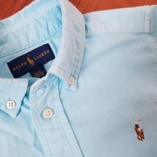 ラルフローレン(Ralph Lauren)のシミあり★ラルフローレンRALPH LAUREN水色のシャツ 110(ブラウス)