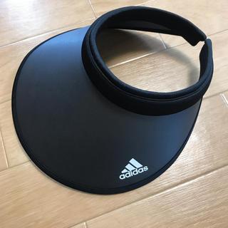 アディダス(adidas)の【美品】adidas アディダス UV サンバイザー 黒(その他)