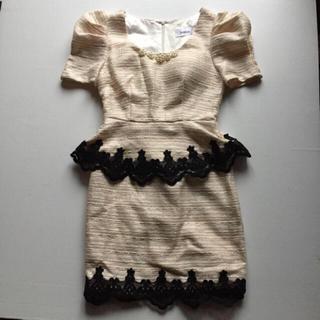 デイジーストア(dazzy store)のツイードペプラムドレス(ミニドレス)
