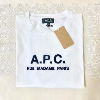 アーペーセー(A.P.C)の新品未使用 Sサイズ APC ロゴ刺繍 Tシャツ(Tシャツ(半袖/袖なし))