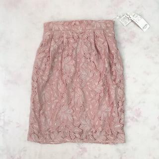 スズタン(suzutan)のINCEDE くすみピンク レーススカート(ひざ丈スカート)