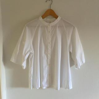 MUJI (無印良品) - オーガニックコットン 五分袖シャツ