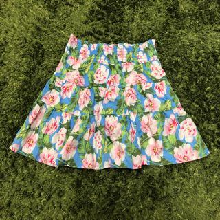 ジーユー(GU)の子供服★花柄★スカート★GU★130(スカート)