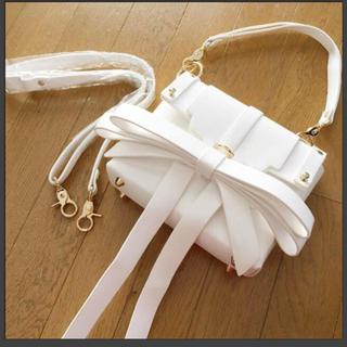 ZARA - ビッグリボンバッグ ホワイト 白 ハンドバッグ ショルダーバッグ