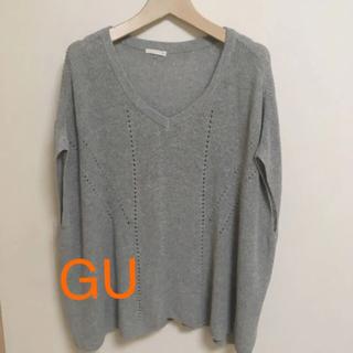 ジーユー(GU)のGU ジーユー オーバーサイズ サマーニット M(Tシャツ(半袖/袖なし))
