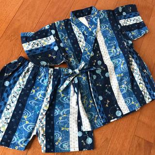 ニシマツヤ(西松屋)のトンボ柄甚平95(甚平/浴衣)