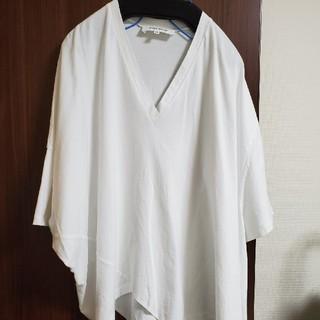 エンフォルド(ENFOLD)のエンフォルド 白 Tシャツ カットソー 38(Tシャツ(半袖/袖なし))