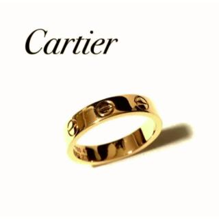 カルティエ(Cartier)のカルティエ ミニラブリング PG ピンクゴールド 47号 箱付き 新品同様(リング(指輪))