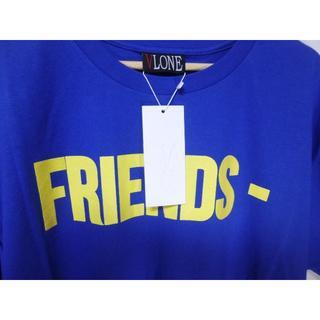 491 VLONE FRIENDS SS TEE BLUE YELLOW M