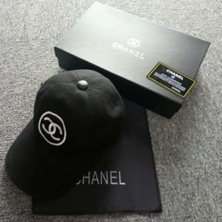 シャネル(CHANEL)の美品 CHANELチャネル ブラック 帽子 キャップ (キャップ)