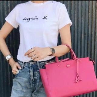 新品 アニエスベー ロゴ Tシャツ T2 ホワイト 白