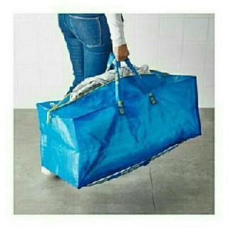 イケア(IKEA)のトロリー用エコバッグFRAKTA ブルー1枚(エコバッグ)