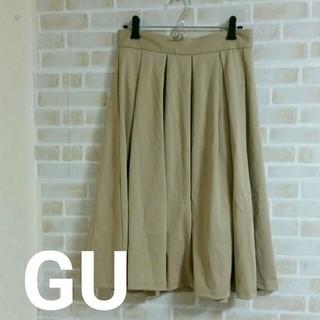 GU - 【本日限定価格】GU 膝丈 フレアスカート