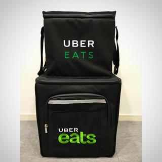 新品未使用 Uber eats 黒バッグ 大&小