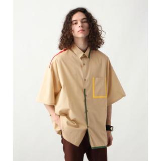 ハレ(HARE)のHARE パイピングBIGシャツ ベージュ(シャツ)