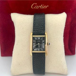 Cartier - 期間限定価格  カルティエ Cartier  ブラックフェイス ミニマストタンク