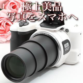 富士フイルム - 極上美品のホワイトボディ^_^写真をスマホへ★フジ ファインピクス S8600