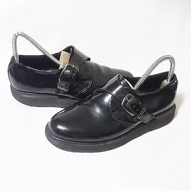 Dr.Martens(ドクターマーチン)の 希少デザイン!ドクターマーチン高級サイドベルトローファー人気の黒!24    レディースの靴/シューズ(ローファー/革靴)の商品写真