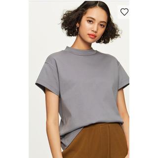 ジーユー(GU)のgu ジーユー   スムースTシャツ 完売 ブルー(Tシャツ(半袖/袖なし))