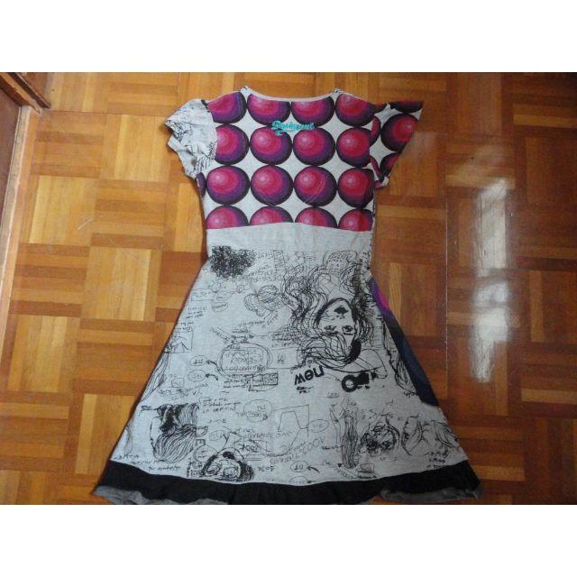 DESIGUAL(デシグアル)のグレーのワンピース デシグアル レディースのワンピース(ひざ丈ワンピース)の商品写真