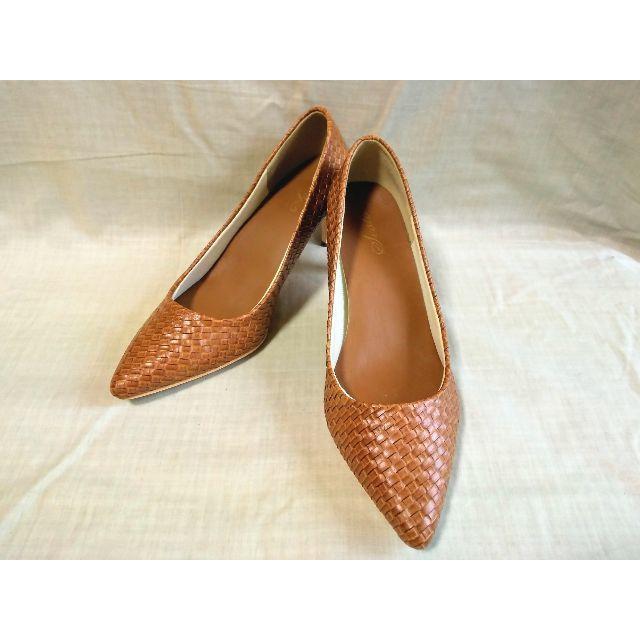 クラフトメッシュ素材のポインテッドトゥパンプス レディースの靴/シューズ(ハイヒール/パンプス)の商品写真