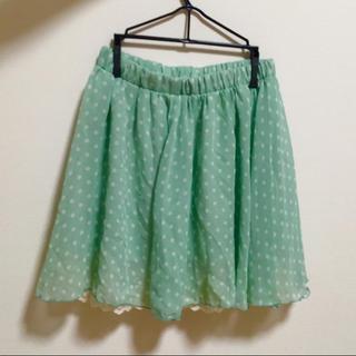 シマムラ(しまむら)のドットスカート(ひざ丈スカート)
