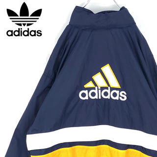 adidas - 送料無料!アディダス デカロゴ!ゆるだぼ ナイロンジャケット ワンポイント刺繍