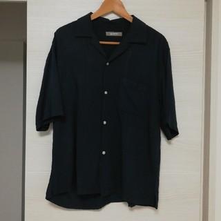 ナノユニバース(nano・universe)のナノ・ユニバース オープンカラーシャツ 半袖 ネイビー L(シャツ)