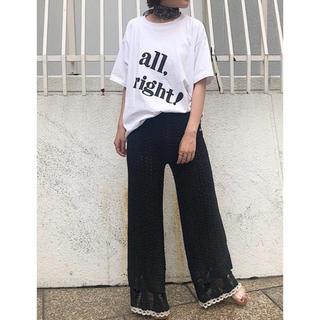 スナイデル(snidel)の2019SSビッグロゴTシャツ❣️ブラック (Tシャツ/カットソー(半袖/袖なし))