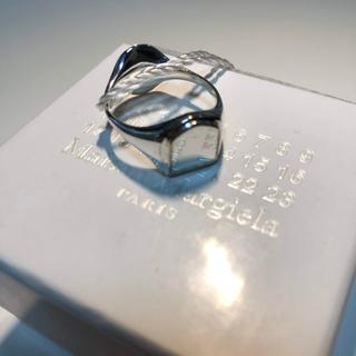 マルタンマルジェラ(Maison Martin Margiela)の【新品】19SS マルジェラ リバーシブル シルバー リング Sサイズ(リング(指輪))